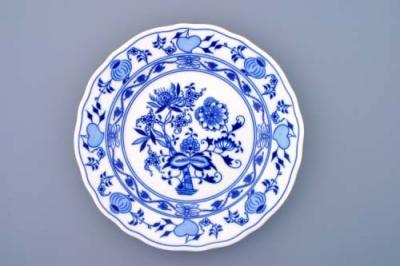 Zwiebelmuster Original Bohemia Weihnachtsschmuck Sonne beidseitig 10cm Porzellan
