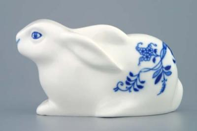 Zwiebelmuster Easter Hare 11.5cm, Original Bohemia Porcelain from Dubi