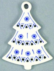 Zwiebelmuster Christmas Decoration Tree, Original Bohemia Porcelain fromDubi