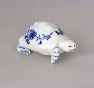 Zwiebelmuster Turtle 9cm, Original Bohemia Porcelain from Dubi