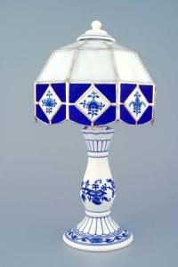 Zwiebelmuster Bed Lamp 30cm, Original Bohemia Porcelain from Dubi