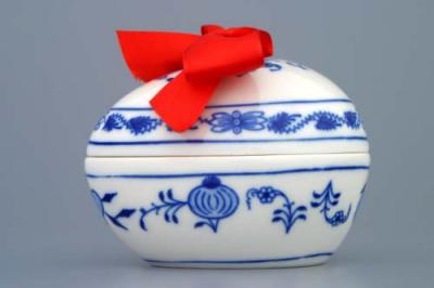 Zwiebelmuster Egg with Suprise 9.5cm, Original Bohemia Porcelain from Dubi