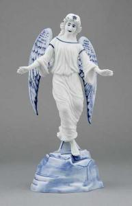 Zwiebelmuster Angel, Original Bohemia Porcelain from Dubi