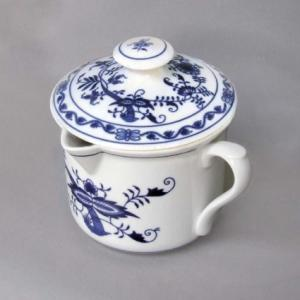 Zwiebelmuster Mug with Cover 0.90L, Original Bohemia Porcelain from Dubi