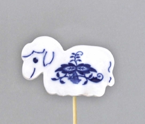 Zwiebelmuster Sheep, Easter Decoration 6cm, Original Bohemia Porcelain from Dubi