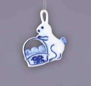 Zwiebelmuster Easter Decoration Rabbit, Original Bohemia Porcelain from Dubi