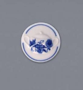 Zwiebelmuster Magnet Round 4.5cm, Original Bohemia Porcelain from Dubi