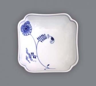 Eco Zwiebelmuster Square Salad Dish 15cm, Bohemia Porcelain from Dubi