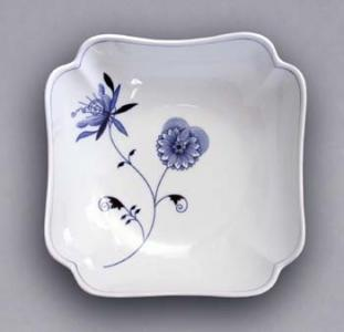 Eco Zwiebelmuster Square Salad Dish 24cm, Bohemia Porcelain from Dubi