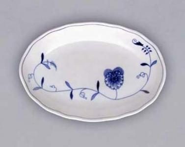 Eco Zwiebelmuster Oval Salad Dish 23cm, Bohemia Porcelain from Dubi