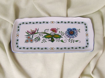 NatureZwiebelmuster Square Sandwich Tray,NATURE Bohemia Porcelain from Dubi