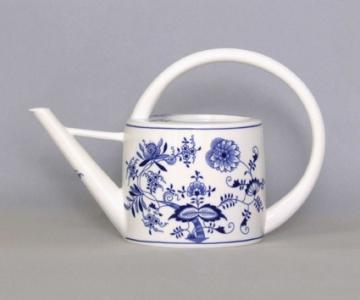 Zwiebelmuster Watering Can 34cm, Original Bohemia Porcelain from Dubi