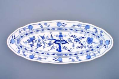 Zwiebelmuster Oval Bowl for Fish 57cm, Original Bohemia Porcelain from Dubi