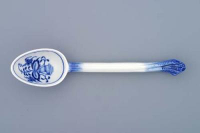 Zwiebelmuster Spoon for Souceboat, Original Bohemia Porcelain from Dubi