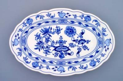 Zwiebelmuster Fish Dish Oval 35cm, Original Bohemia Porcelain from Dubi