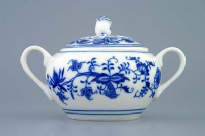 Zwiebelmuster Sugar Container with Handles 0.30L, Original Bohemia Porcelain from Dubi
