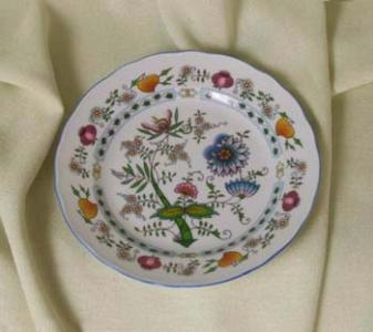 Nature Zwiebelmuster Flat Dessert Plate 19cm, Bohemia Porcelain from Dubi