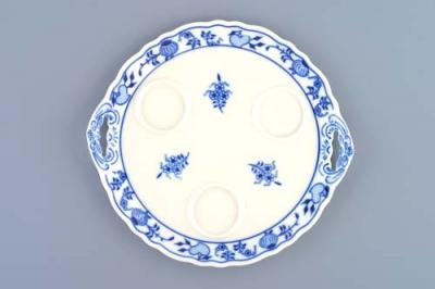 Zwiebelmuster Tray for Carafes 20.5cm, Original Bohemia Porcelain from Dubi