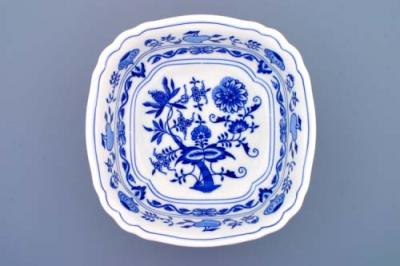 Zwiebelmuster Salad Dish Square 21cm, Original Bohemia Porcelain from Dubi
