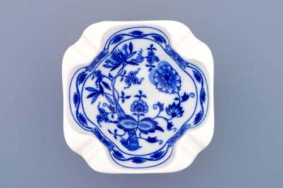 Zwiebelmuster Ashtray Square 12.5cm, Original Bohemia Porcelain from Dubi