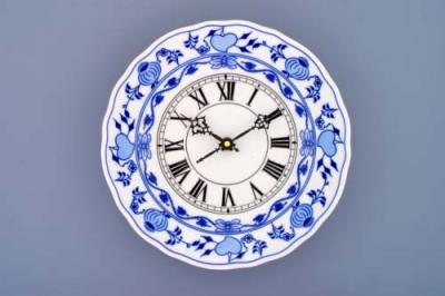 Zwiebelmuster Sale 30%off Clock 24cm, Original Bohemia Porcelain from Dubi