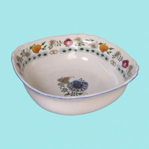Zwiebelmuster Square Salad Dish 19cm,NATURE Original Bohemia Porcelain from Dubi
