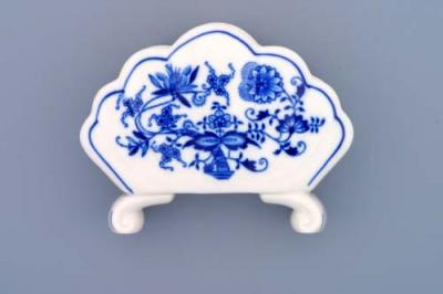 Zwiebelmuster Napkin Holder, Original Bohemia Porcelain from Dubi