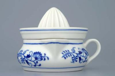 Zwiebelmuster Lemon Squeezer 10cm, Original Bohemia Porcelain from Dubi