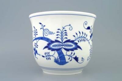 Zwiebelmuster Flower Pot Large, Original Bohemia Porcelain from Dubi
