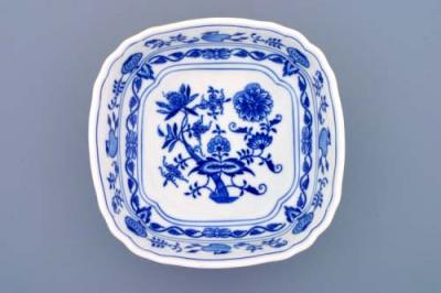 Zwiebelmuster Square Salad Dish 19cm, Original Bohemia Porcelain from Dubi