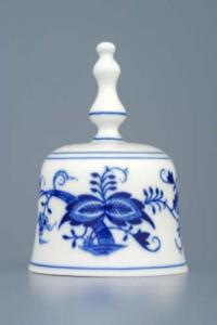 Zwiebelmuster Bell 11cm, Original Bohemia Porcelain from Dubi