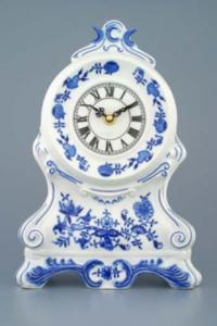 Zwiebelmuster Fireplace Clock 28cm, Original Bohemia Porcelain from Dubi