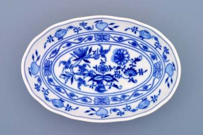 Zwiebelmuster Salad Dish Oval 23cm, Original Bohemia Porcelain from Dubi